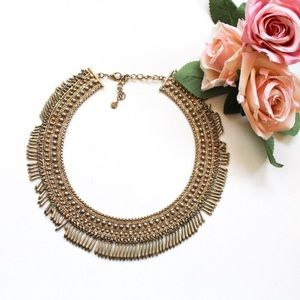 Stella & Dot Beaded Fringe Statement Necklace